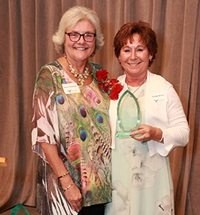 Tammy Brown receives award for Outstanding Nursing Alumni.